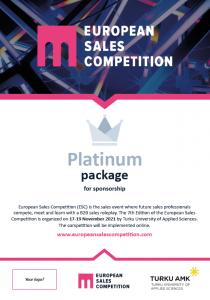Platinum sponsorship package
